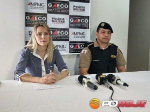 Promotora Dra. Vanessa Dosualdo e o Comandante da 10ª Região da PM coronel Waldimir Soares (Foto:Toninho Cury).