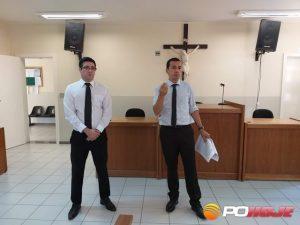 Dr. Manoel Carlos de Gouveia Soares Neto e o promotor Dr. Paulo Henrique Delicole