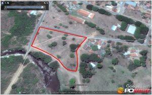 Essa área marcada de vermelho é onde as barracas poderão ser construídas