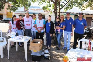 Equipes da Secretaria Municipal de Saúde e do Rotary Club