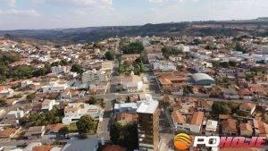 Vista de Presidente Olegário (foto cedida pelo Frank Marra)